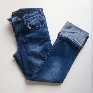Joe's Jeans | Cropped Cuffed Judi Mid Rise Jeans